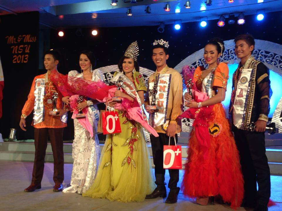 David Mikhail Tonelete of COT and Ma. Jovelyn Lagrosas of CIICT crowned as Mr NSU 2013, Ms NSU 2013