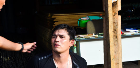 "Jewarth Alba, aka ""Joe-Art,"" alleged top drug lord in Biliran was nabbed on Thursday, May 26, in a buy-bust operation at around 5 PM outside a cockpit in Barangay Calumpang, this town."