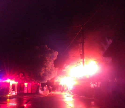 Fire in Almeria Biliran. Photo from Clyden Orlina