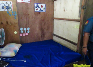 This is the room where Rose Anne was murdered and allegedly raped. Photo from Naval PNP