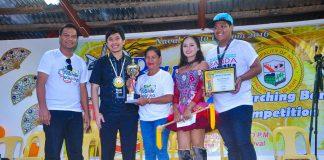 Banda Hudyaka 2016.Champion. Naval National HighSchool with Naval Mayor GeraRd Espina and Naval Fiesta Execom chairman Allan Paul Tubis