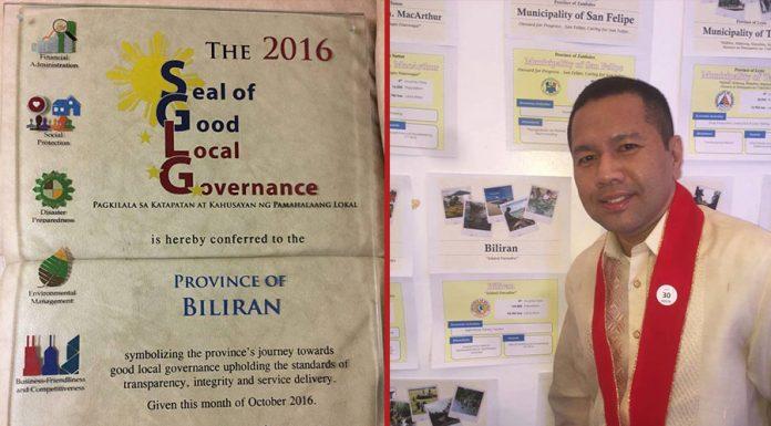 Biliran Governor Gerryboy Espina