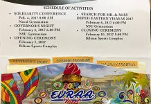 EVRAA 2017 Schedule of Activities