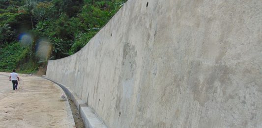 Completed Construction of Slope Protection along Naval-Caibiran Cross Country Road (NCCR). The project is under contract with Chu Construction with a contract cost of P41, 600,000.00.