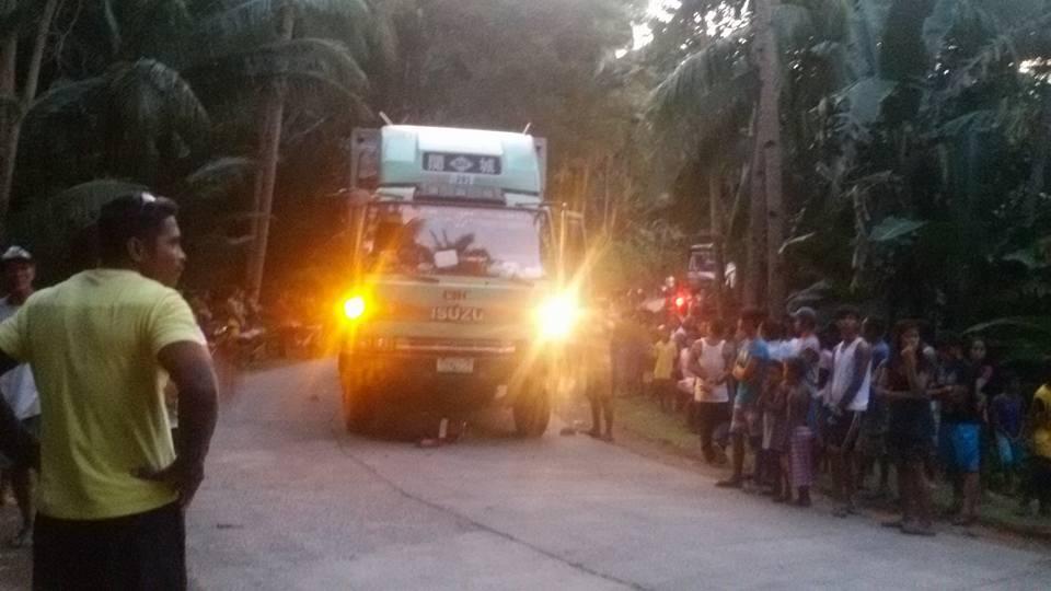 Two die as AUV truck hit a motorcycle in Culaba. Photo by Jane Diaz Completado