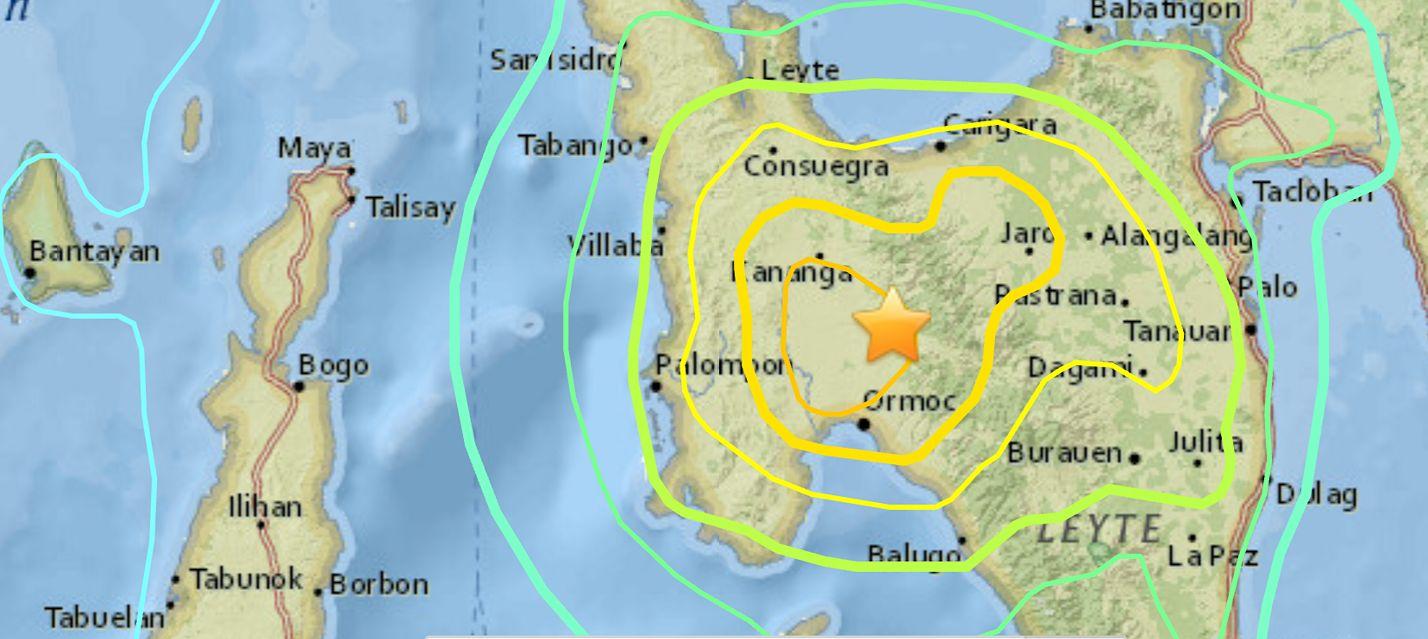 6.5 M Earthquake in Leyte